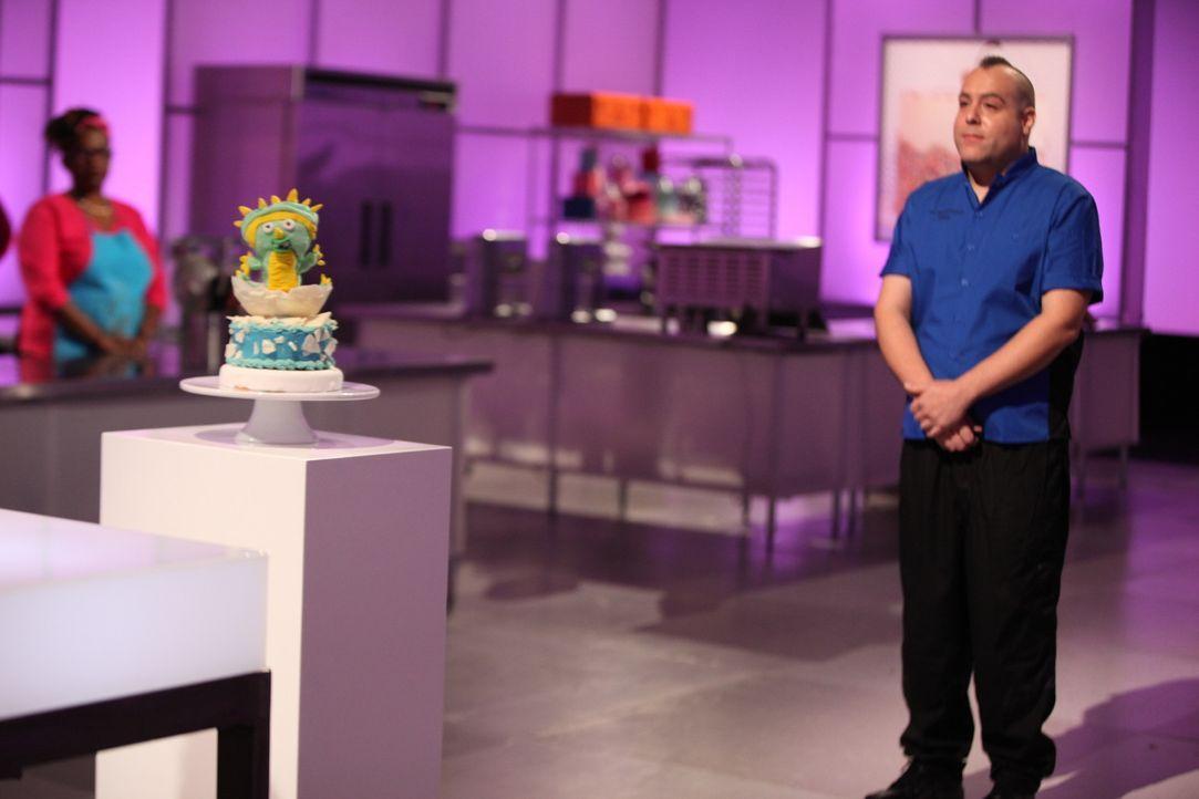 75 Minuten ist keine lange Zeit für die perfekte Dinosauriertorte, dennoch hofft Tony Albanese (r.), dass seine Torte die Jury begeistert ... - Bildquelle: 2016,Television Food Network, G.P. All Rights Reserved