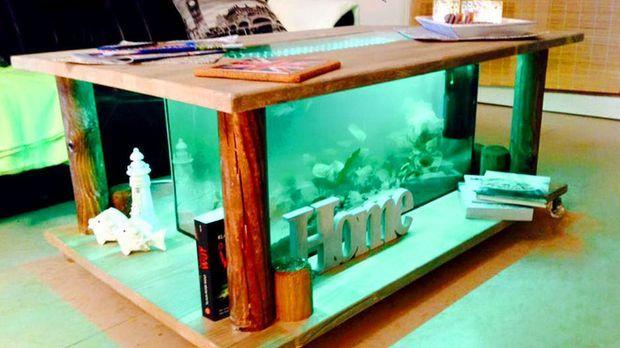 Diy tischaquarium selber bauen for Aquarium wohnzimmertisch