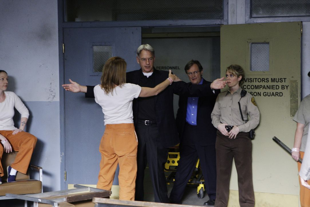 Gibbs(Mark Harmon, M.) und Ducky (David McCallum, 2.v.r.) untersuchen den Mord an einem Gefängniswärter. Doch das erweist sich als schwieriger als... - Bildquelle: CBS Television