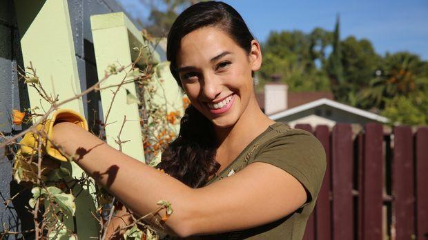 Gelingt es Landschaftsgärtnerin Sara Bendrick (Bild), den von Baumwurzeln dur...