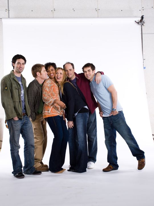 (1. Staffel) - Freunde fürs Leben? (v.l.n.r.): Brendan (Reid Scott), Mike (Jamie Kaler), Stephanie (Kellee Stewart), P.J. (Jordana Spiro), Kenny (M... - Bildquelle: 2006 Sony Pictures Television Inc. All Rights Reserved