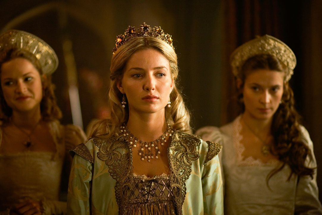 Wartet auf die Niederkunft ihres Kindes: Königin Jane (Annabelle Wallis, M.) ... - Bildquelle: 2009 TM Productions Limited/PA Tudors Inc. An Ireland-Canada Co-Production. All Rights Reserved.