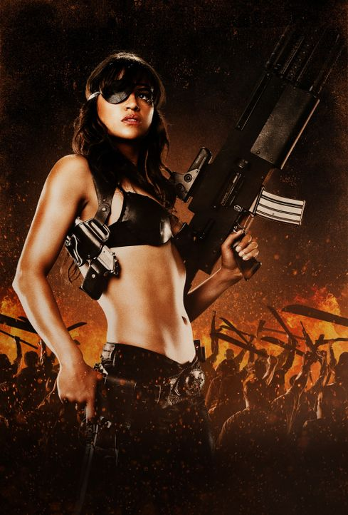 Die attraktive Luz (Michelle Rodriguez) will eine Revolution ... - Bildquelle: 2010 Machete's Chop Shop, Inc. All Rights Reserved.