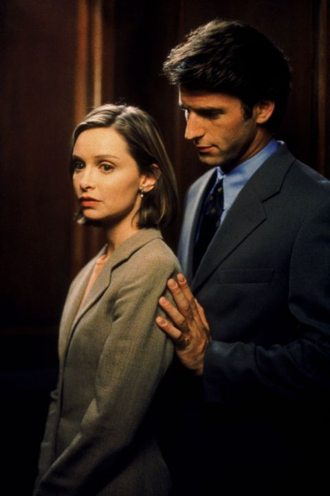 Das erste Date mit dem gutaussehenden Staatsanwalt Jason Roberts (Andrew Heckler, r.) hatte sich Ally McBeal (Calista Flockhart, l.) etwas anders vo... - Bildquelle: Twentieth Century Fox Film Corporation. All rights reserved.