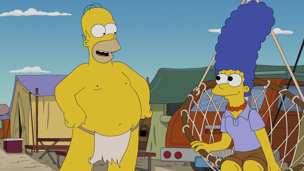 Auf dem Blazing-Guy-Festival gefällt es Homer (l.) und Marge (r.) überraschenderweise doch. Woran das wohl liegt ... - Bildquelle: 2014 Twentieth Century Fox Film Corporation. All rights reserved.