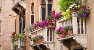 Klein, aber oho und Blumen en masse: So sehen viele Balkone in Südeuropa aus.