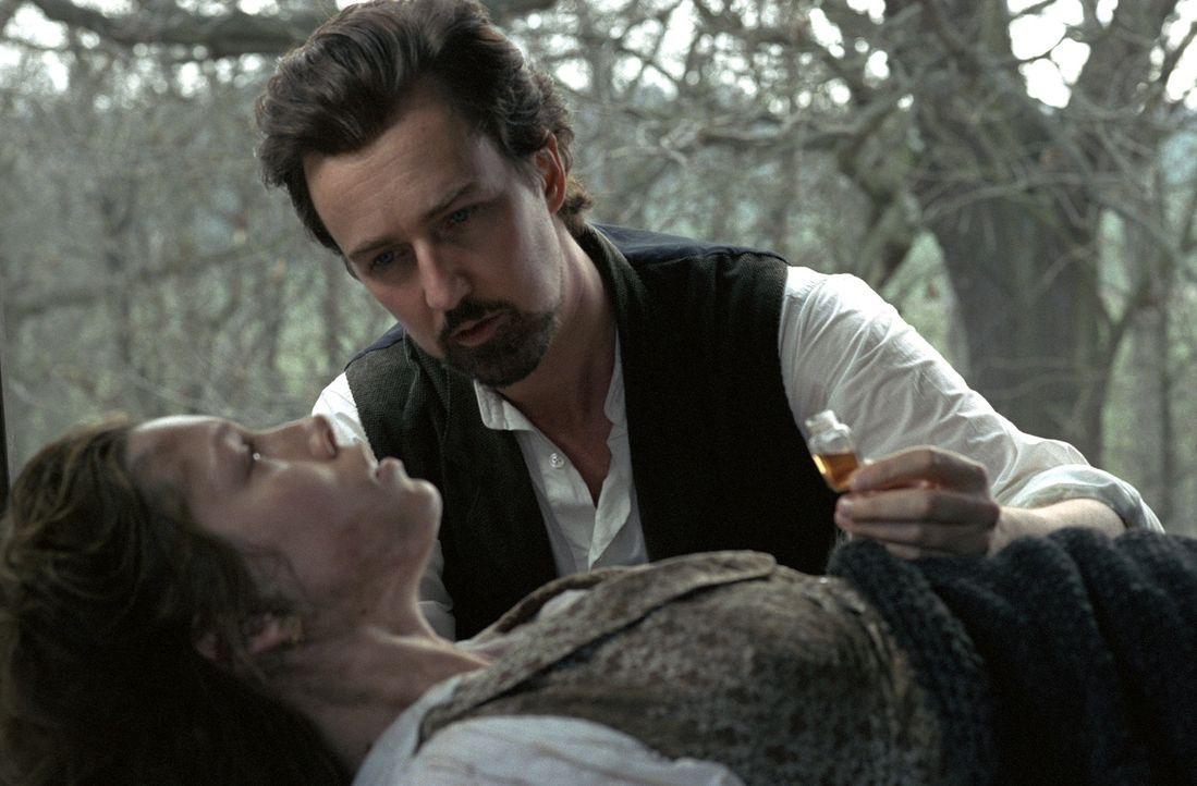 Um für Eisenheim (Edward Norton, r.) frei zu sein, riskiert Sophie (Jessica Biel, l.) alles. Sie löst die Verlobung mit dem rachsüchtigen und machth... - Bildquelle: 2006 Yari Film Group Releasing, LLC.  All Rights Reserved.