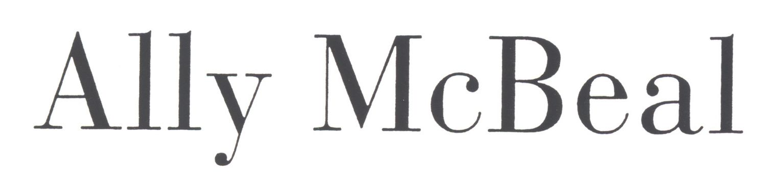 Ally McBeal - Ally McBeal - Logo - Bildquelle: 1999-2000 Twentieth Century Fo...