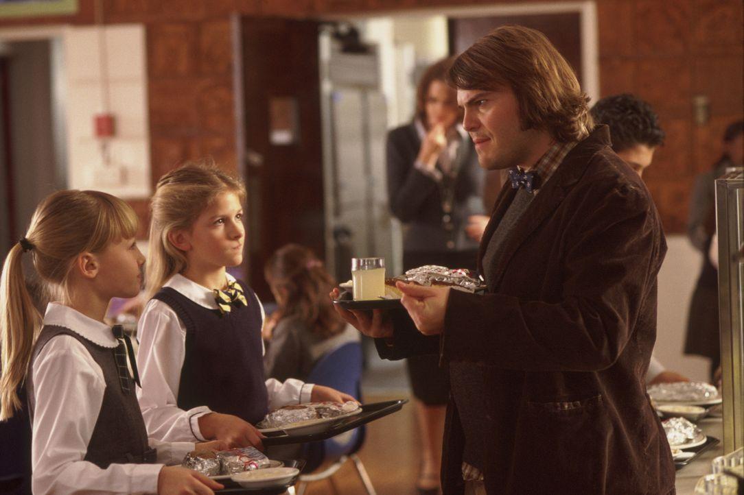 Zuerst will Dewey (Jack Black, r.) Eleni (Veronica Afflerbach, l.), Michelle (Jordan-Claire Green, M.) und die anderen Kinder lediglich mit ganztägi... - Bildquelle: Paramount Pictures