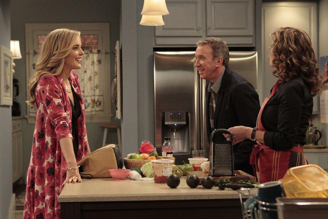 Vanessas (Nancy Travis, r.) Schwester April (Christina Moore, l.) besucht die Baxters. Das gefällt Mike (Tim Allen, M.) gar nicht, denn April hat si... - Bildquelle: 2011 Twentieth Century Fox Film Corporation