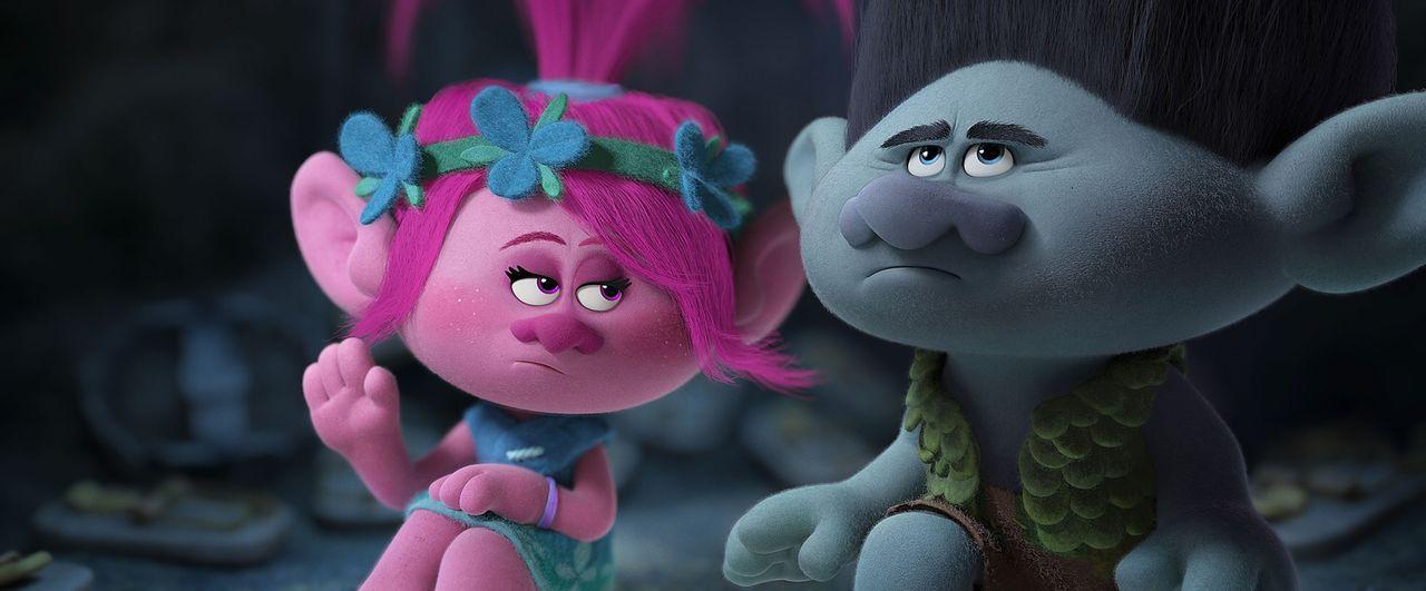 (v.l.n.r.) Poppy; Branch - Bildquelle: 2016 DreamWorks Animation, L.L.C.  All rights reserved.