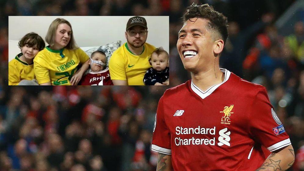 Liverpool-Star Roberto Firmino machte eine brasilianische Familie glücklich - Bildquelle: Imago / Instagram@ amejoaoemiguel