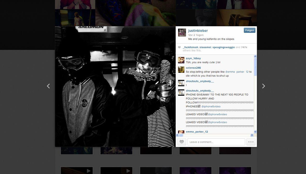 Neujahr2014-Justin-Bieber-instagram-com-Justin-Bieber - Bildquelle: instagram.com / Justin Bieber