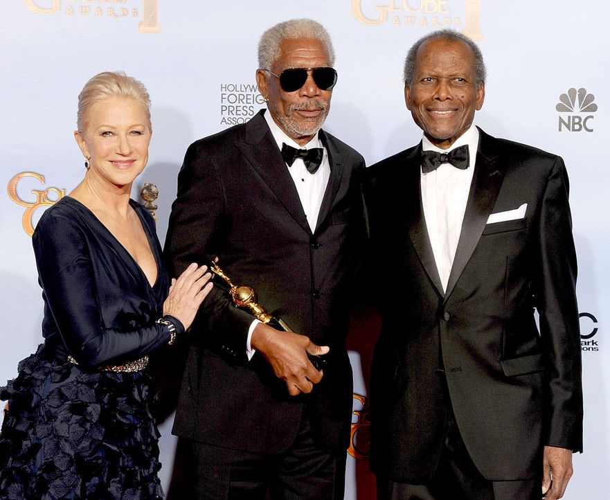 golden-globes-helen-mirren-morgan-freeman-sidney-poitier-12-01-15-getty-afpjpg 1400 x 1147 - Bildquelle: getty-AFP