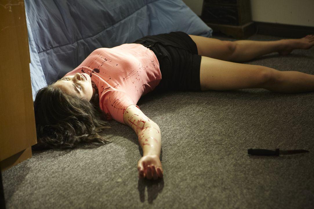 In Boston wird die 18-jährige Amy Roman (Marcela Garzano) blutüberströmt auf dem Fußboden ihrer Wohnung gefunden. Ihr Ex-Freund und Vater ihres Kind... - Bildquelle: Ian Watson Cineflix 2013