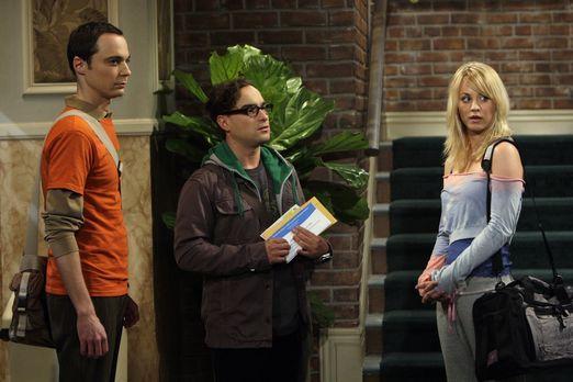 The Big Bang Theory - Leonard (Johnny Galecki, M.) und Sheldon (Jim Parsons,...