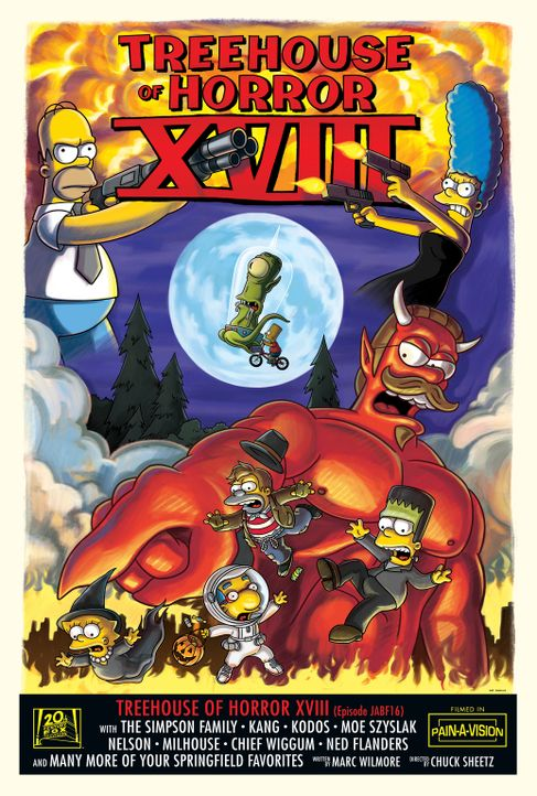 Treehouse of Horror XVIII - Plakatmotiv - Bildquelle: 2007 Twentieth Century Fox Film Corporation. All rights reserved.