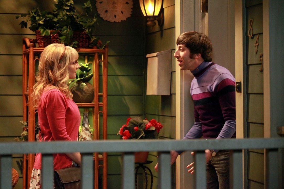 Wohnen ein Wochenende auf Probe bei Mrs. Wolowitz: Howard (Simon Helberg, r.) und Bernadette (Melissa Rauch, l.) ... - Bildquelle: Warner Bros. Television