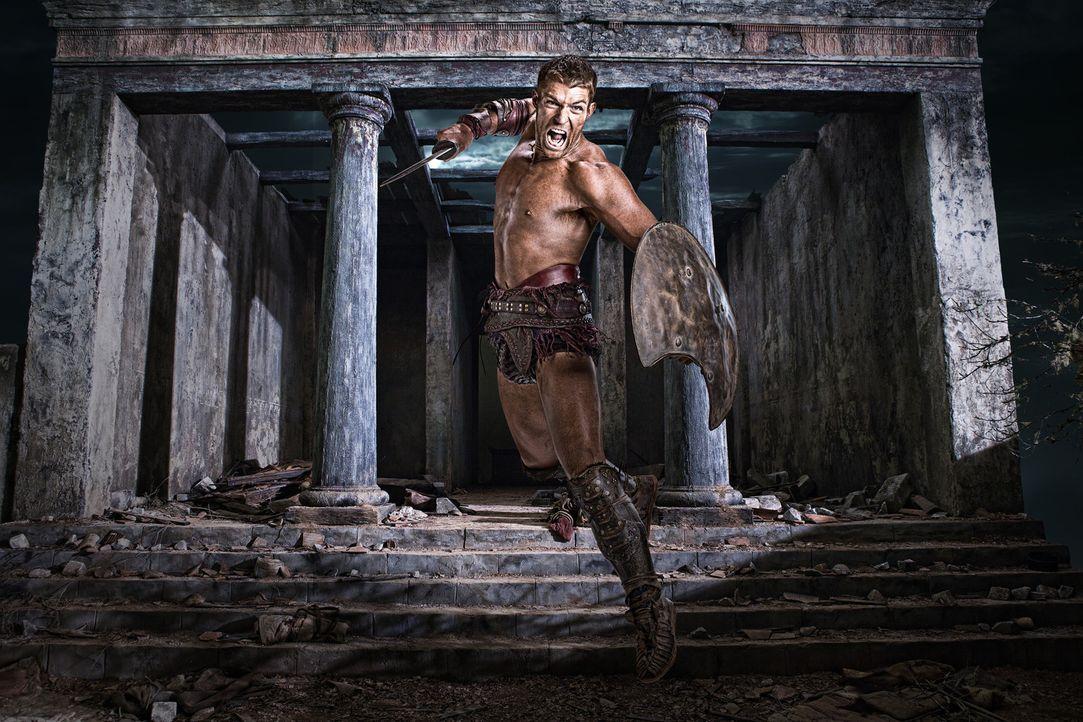 Will nur noch eines: Glabers Leben ein Ende bereiten und alle Sklaven Roms zu befreien: Spartacus (Liam McIntyre) ... - Bildquelle: 2011 Starz Entertainment, LLC. All rights reserved.