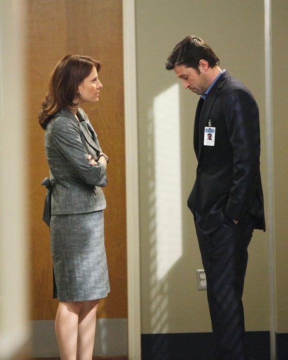 Derek (Patrick Dempsey, r.) kann nicht fassen, dass Gary Clark, der Ehemann einer früheren Patientin, ihn für den Tod seiner Frau verantwortlich mac... - Bildquelle: Touchstone Television