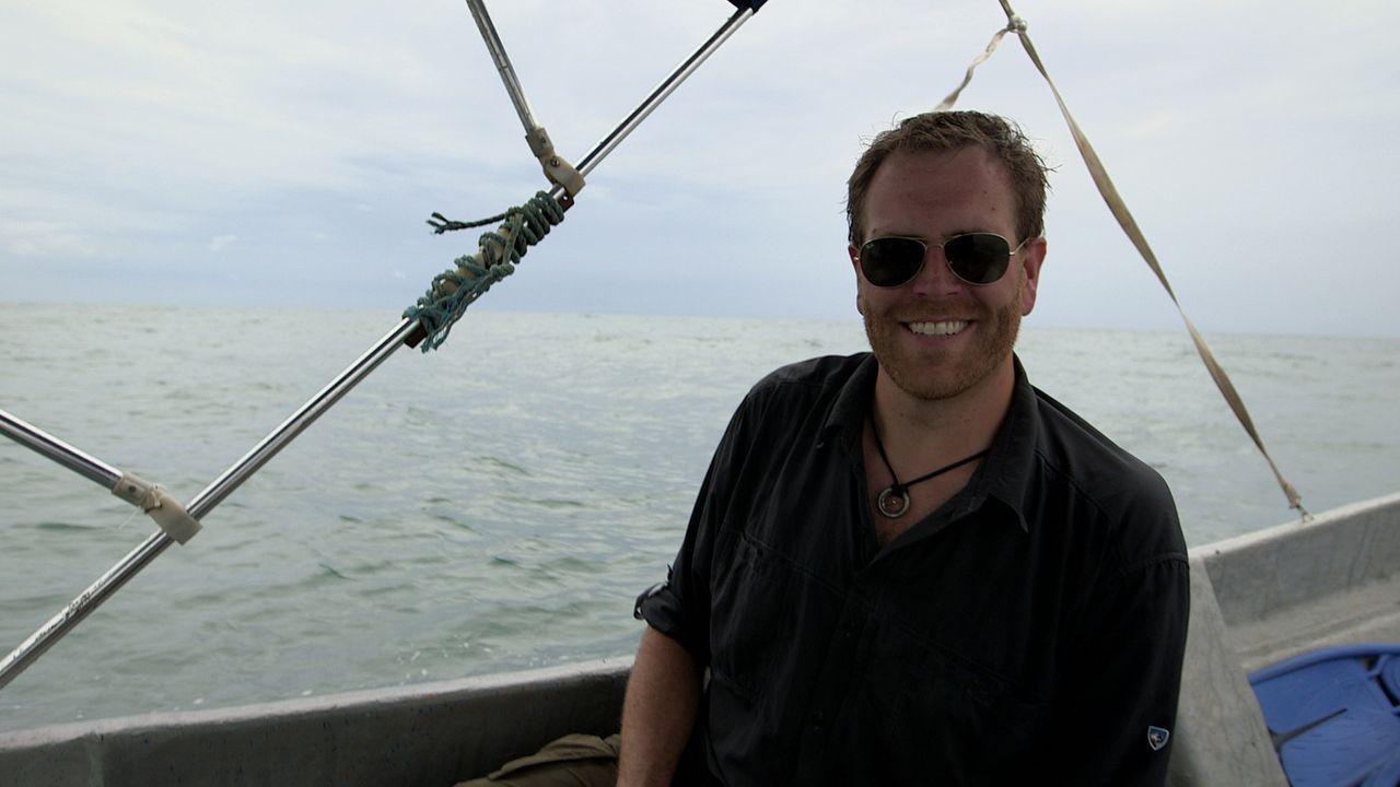 Im Lajas-Riff vor der Küste Panamas fanden Archäologen ein Schiff des berühmten Piraten Captain Morgan. Josh (l.) hofft darauf, hier auch seinen Sch... - Bildquelle: 2015, The Travel Channel, L.L.C. All Rights Reserved.