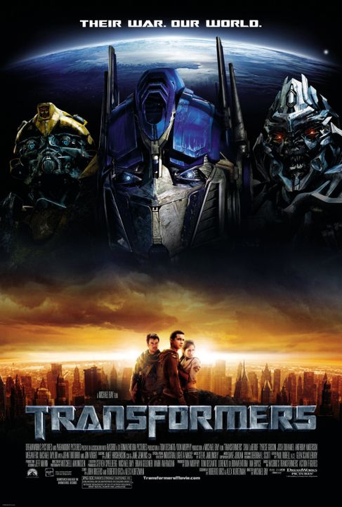 Transformers - Plakatmotiv - Bildquelle: 2008 DREAMWORKS LLC AND PARAMOUNT PICTURES CORPORATION. ALL RIGHTS RESERVED.
