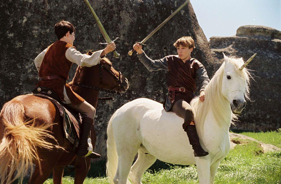 Peter (William Moseley, r.) und Edmund (Skandar Keynes, l.) müssen sich in Narnia vielen gefährlichen Herausforderungen stellen ... - Bildquelle: Disney Enterprises. All rights reserved