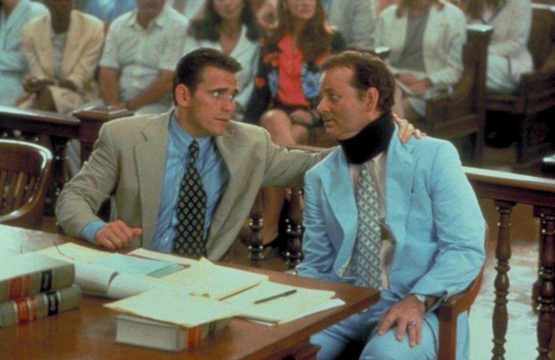 Ken Bowden (Bill Murray, r.) übernimmt die Verteidigung des wegen Vergewaltigung angeklagten Lehrers Sam Lombardo (Matt Dillon, l.) ... - Bildquelle: Columbia Tri-Star