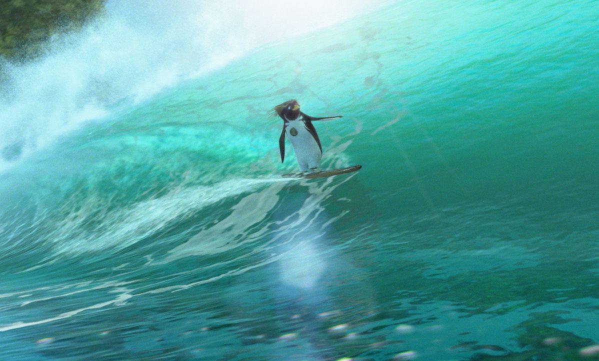 Im antarktischen Shiverpool sitzt Cody Maverick und träumt von einer Surfer-Karriere. Eines Tages wird Cody von einem Talentscout entdeckt und erh - Bildquelle: 2007 Sony Pictures Animation Inc. All Rights Reserved.