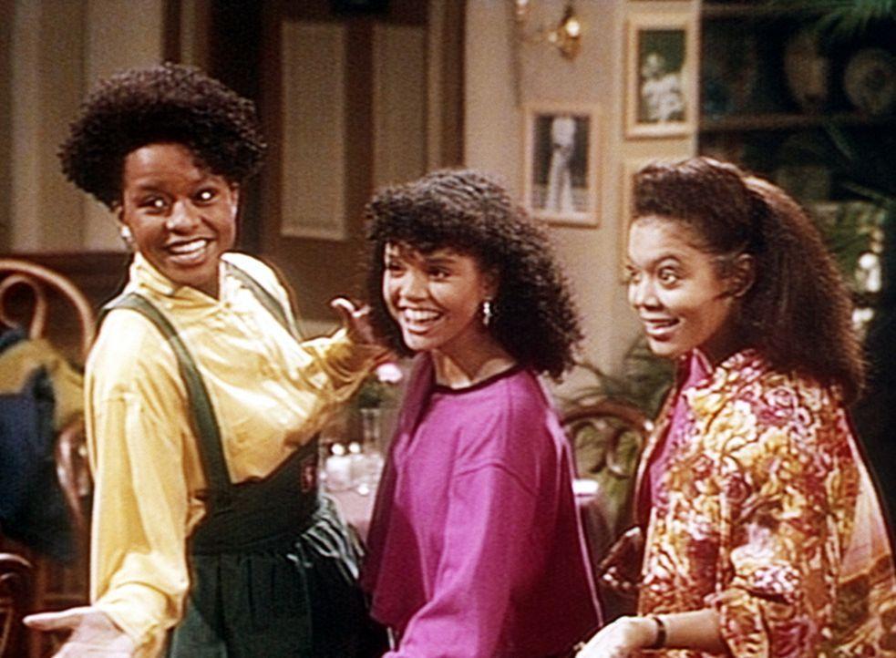 Vanessa (Tempsett Bledsoe, l.), Kara (Elizabeth Narvaez, M.) und Janet (Pam Potillo, r.) haben ein Gesangstrio gegründet und wollen nun ernsthaft a... - Bildquelle: Viacom