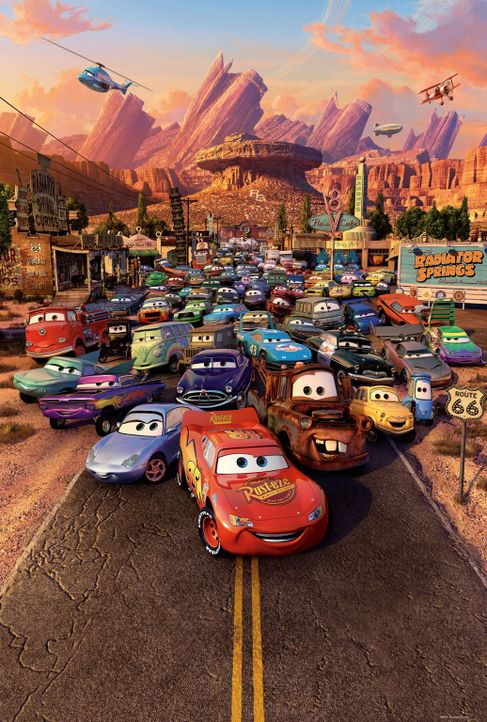 Der Moment, der den Motor jedes Boliden im Land vor Vorfreude aufheulen lässt, ist gekommen: Tausende von Autos haben sich versammelt, um am Dinoco... - Bildquelle: Walt Disney Pictures