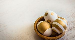 Ostereier in Gold