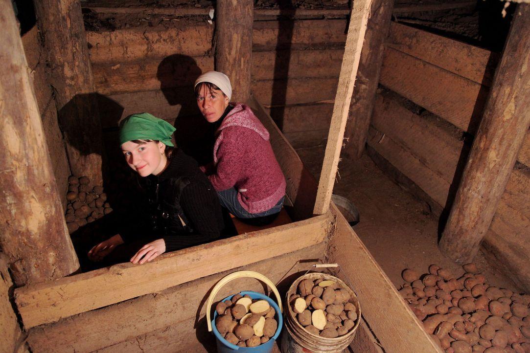 Bei Marina (l.) und Xenia (r.) in Sibirien sollen die Teenager aus Deutschland lernen, was es bedeutet, Verantwortung zu übernehmen ... - Bildquelle: kabel eins