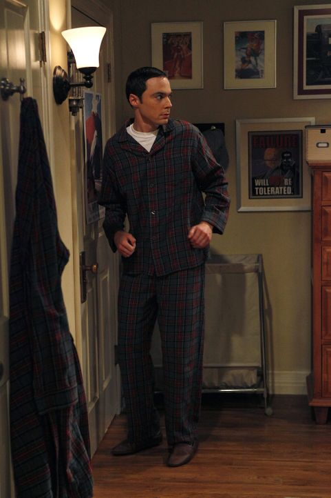 Nachdem bei Sheldon und Leonard eingebrochen worden ist, fühlt sich Sheldon (Jim Parsons) nicht mehr sicher ... - Bildquelle: Warner Bros. Television