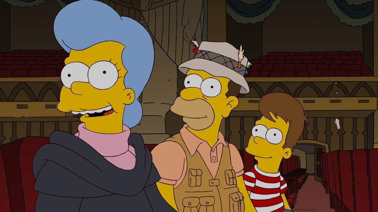 Um dem Bettnässerproblem auf die Schliche zu kommen, geht Homer (r.) auf eine Mission in seine Träume und wird dort in seiner Vergangenheit mit se... - Bildquelle: und TM Twentieth Century Fox Film Corporation - Alle Rechte vorbehalten