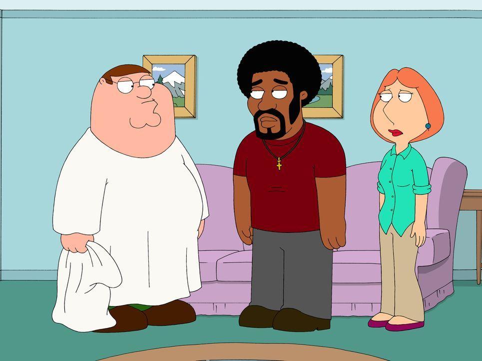 Als Peter (l.) herausfindet, dass Lois (r.) früher einmal ein Verhältnis mit Jerome (M.) hatte, ist er ziemlich eifersüchtig ... - Bildquelle: 2007-2008 Twentieth Century Fox Film Corporation. All rights reserved.