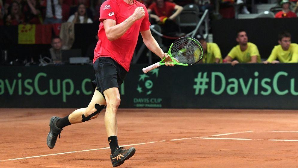 Belgien will mit Goffin den ersten Davis-Cup-Titel holen - Bildquelle: AFPSIDEMMANUEL DUNAND