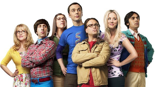 "Die Besetzung der Serie ""The Big Bang Theory"": v.l. Melissa Rauch,..."