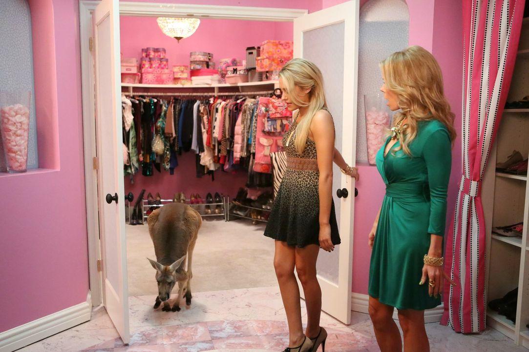 Kaitlin (Katelyn Pacitto, l.) treibt ihre Mutter Dallas (Cheryl Hines, r.) in den Wahnsinn. Weil sie so rein gar nichts von ihren Kinderspielsachen... - Bildquelle: Warner Brothers