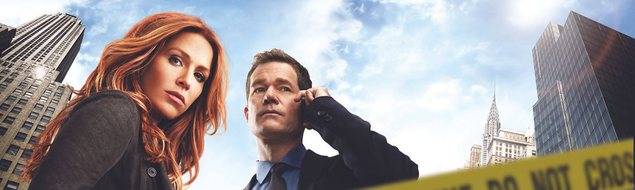 (2. Staffel) - Kein Verbrecher hat bei ihnen eine Chance: Detective Carrie Wells (Poppy Montgomery, l.) und Detective Al Burns (Dylan Walsh, r.) ... - Bildquelle: 2013 Sony Pictures Television Inc. All Rights Reserved.