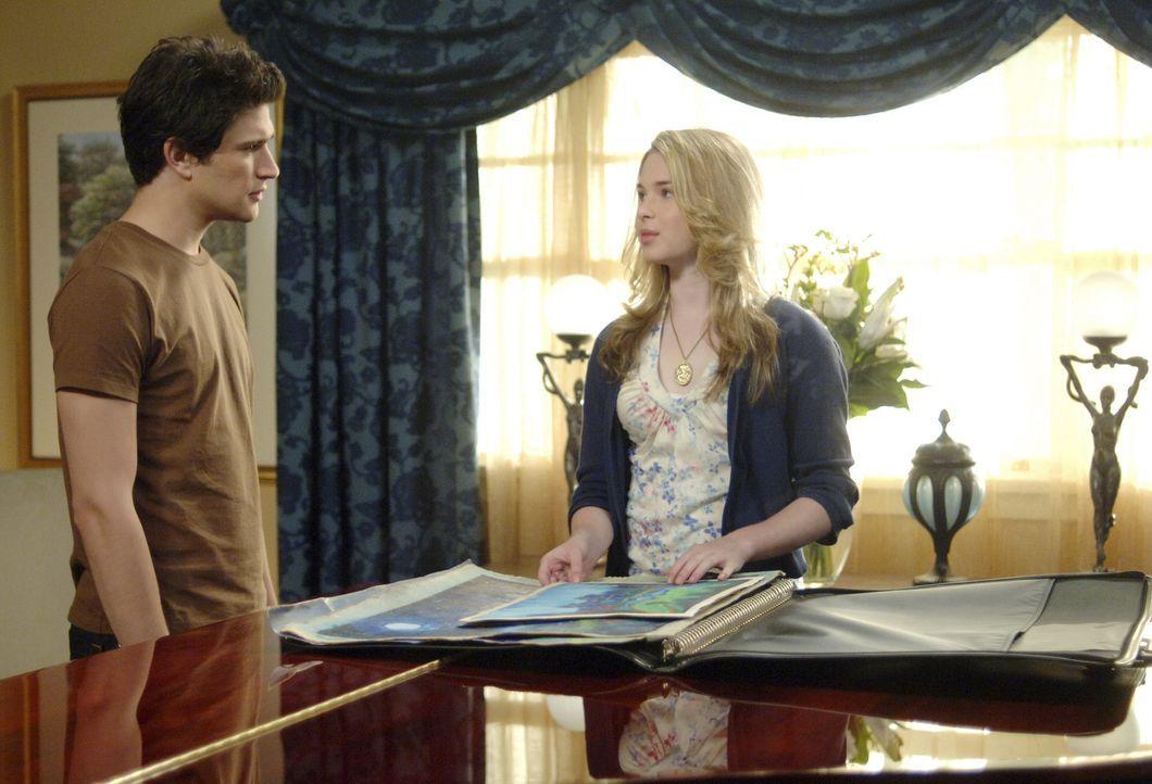 Beim Schwimmunterricht mit Amanda (Kirsten Prout, r.) macht Kyle (Matt Dallas, l.) eine äußerst peinliche Erfahrung ... - Bildquelle: TOUCHSTONE TELEVISION