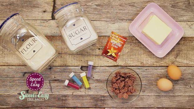Zutaten: Bunte Zuckercookies