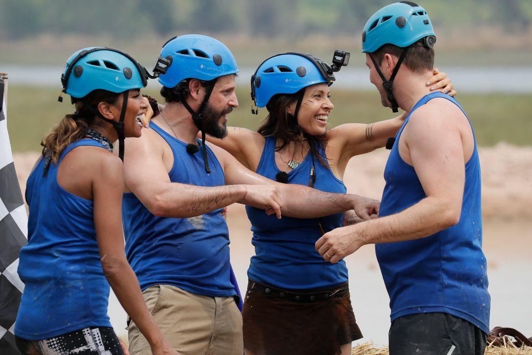 Global Gladiators - Team blau - Bildquelle: ProSieben/Richard Hübner