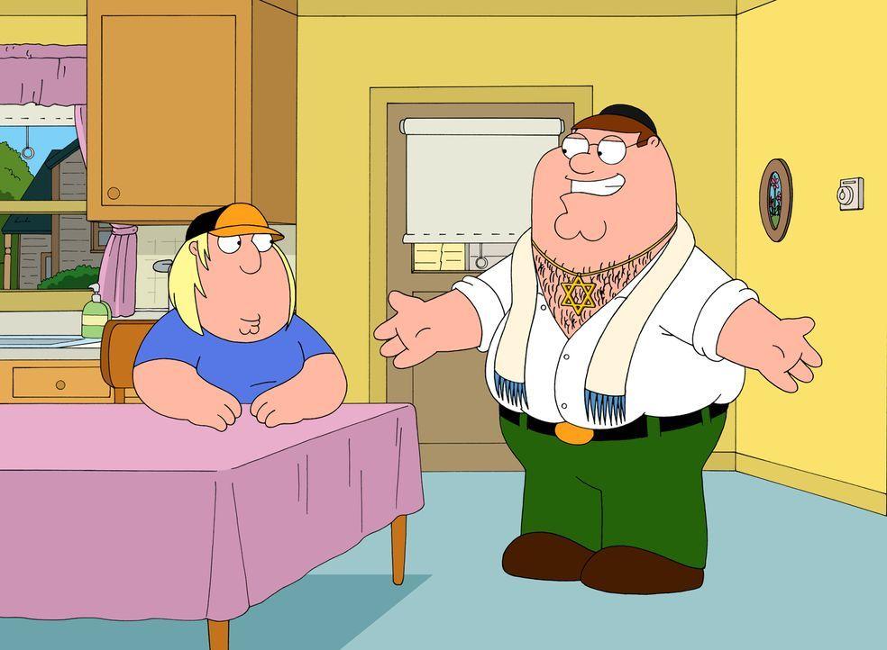 Peter (r.) hat herausgefunden, dass Lois eigentlich Jüdin ist. Er ist sofort Feuer und Flamme für die neue Religion und lebt fortan völlig überzeugt... - Bildquelle: 2007-2008 Twentieth Century Fox Film Corporation. All rights reserved.