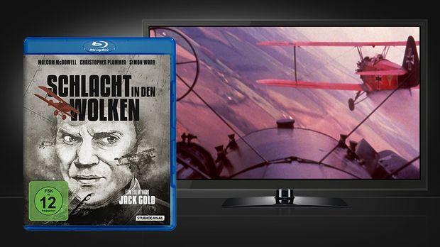 Schlacht in den Wolken Blu-ray Cover und Szene © Studiocanal