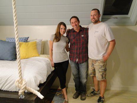 Der Dachboden von Leslie (l.) und Brandon Ponde (r.) muss endlich ausgebaut w...
