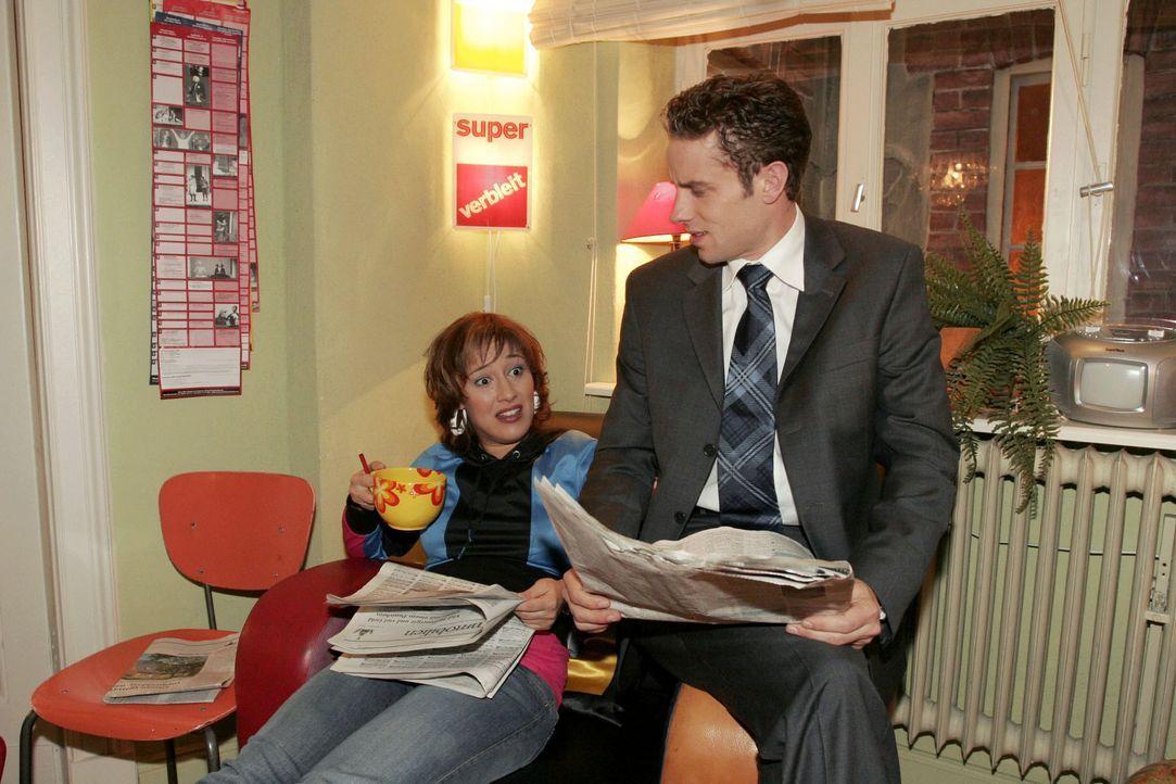 Yvonne (Bärbel Schleker, l.) und Max (Alexander Sternberg, r.) haben sehr unterschiedliche Vorstellungen darüber, wie ihre zukünftige Wohnung ausseh... - Bildquelle: Noreen Flynn Sat.1
