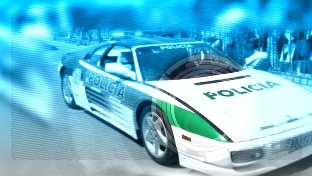 Bildgeschichte: Polizeiferrari
