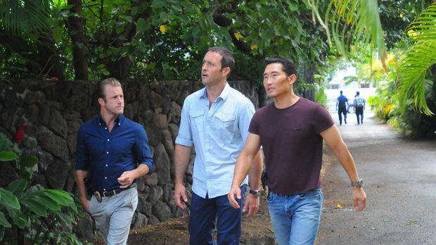 Ermitteln in einem neuen Mordfall: Steve (Alex O'Loughlin, M.), Danny (Scott...