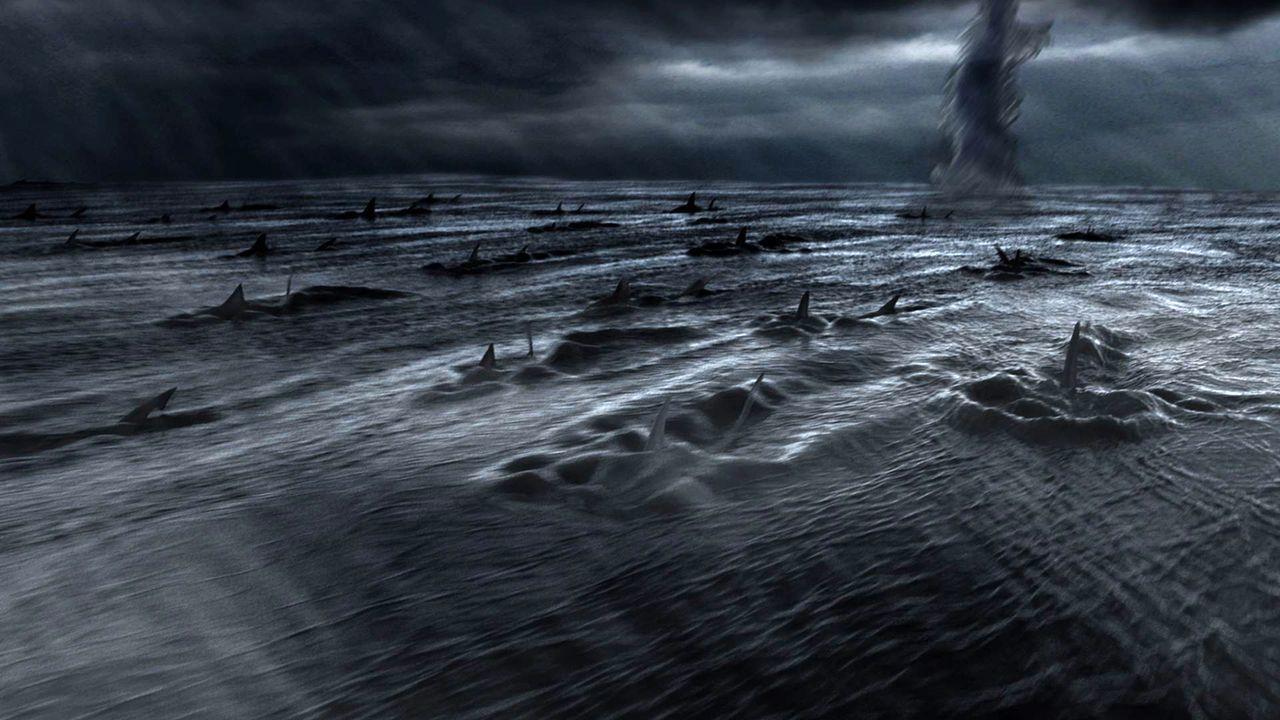 Ein Orkan, der unaufhaltsam auf Los Angeles zusteuert, bringt nicht nur jede Menge Regen und kräftige Windböen, sondern auch hungrige Haie ... - Bildquelle: 2013, THE GLOBAL ASYLUM INC.  ALL RIGHTS RESERVED.